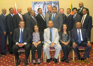 CSLBC AGM 2014 - Group photo with Actg. Consul General for Sri Lanka Mr. Asoka Godawita.